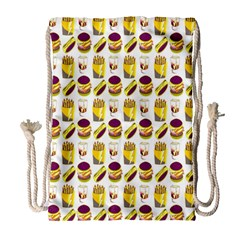 Hamburger And Fries Drawstring Bag (large)