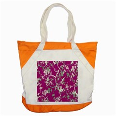 Floral Pattern Background Accent Tote Bag by Simbadda