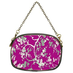 Floral Pattern Background Chain Purses (two Sides)