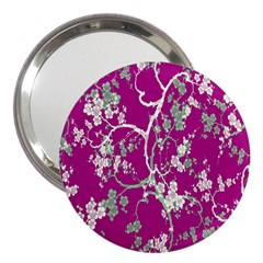 Floral Pattern Background 3  Handbag Mirrors by Simbadda