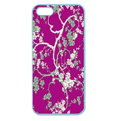 Floral Pattern Background Apple Seamless Iphone 5 Case (color) by Simbadda