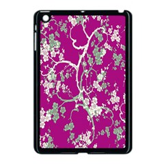 Floral Pattern Background Apple Ipad Mini Case (black)