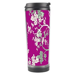 Floral Pattern Background Travel Tumbler