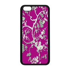 Floral Pattern Background Apple Iphone 5c Seamless Case (black)