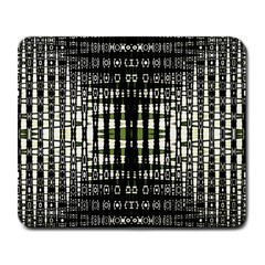 Interwoven Grid Pattern In Green Large Mousepads