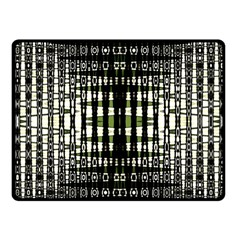 Interwoven Grid Pattern In Green Fleece Blanket (small) by Simbadda