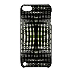 Interwoven Grid Pattern In Green Apple Ipod Touch 5 Hardshell Case With Stand by Simbadda
