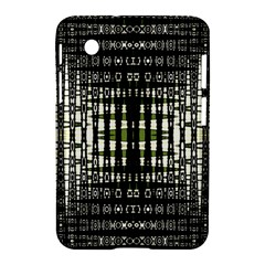 Interwoven Grid Pattern In Green Samsung Galaxy Tab 2 (7 ) P3100 Hardshell Case