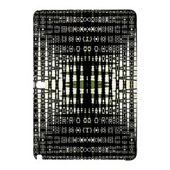 Interwoven Grid Pattern In Green Samsung Galaxy Tab Pro 10 1 Hardshell Case by Simbadda