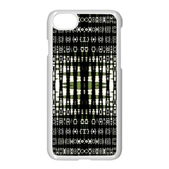 Interwoven Grid Pattern In Green Apple Iphone 7 Seamless Case (white) by Simbadda