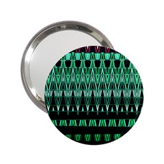 Green Triangle Patterns 2 25  Handbag Mirrors by Simbadda