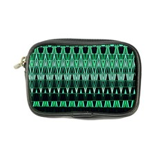 Green Triangle Patterns Coin Purse