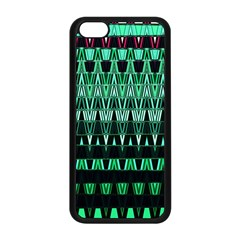 Green Triangle Patterns Apple Iphone 5c Seamless Case (black) by Simbadda