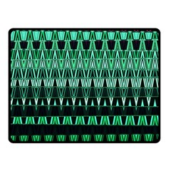 Green Triangle Patterns Double Sided Fleece Blanket (small)  by Simbadda