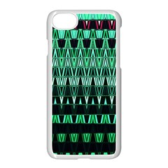 Green Triangle Patterns Apple Iphone 7 Seamless Case (white)