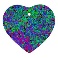Green Purple Pink Background Ornament (heart)