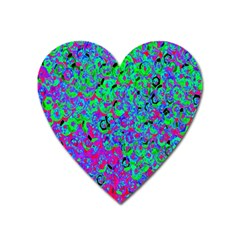 Green Purple Pink Background Heart Magnet by Simbadda