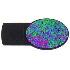 Green Purple Pink Background Usb Flash Drive Oval (4 Gb) by Simbadda