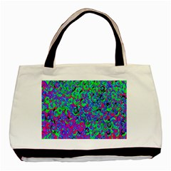 Green Purple Pink Background Basic Tote Bag