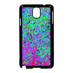 Green Purple Pink Background Samsung Galaxy Note 3 Neo Hardshell Case (black) by Simbadda