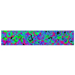 Green Purple Pink Background Flano Scarf (small)
