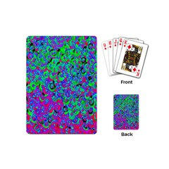 Green Purple Pink Background Playing Cards (mini)  by Simbadda