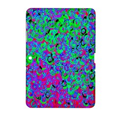 Green Purple Pink Background Samsung Galaxy Tab 2 (10 1 ) P5100 Hardshell Case