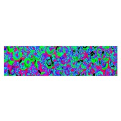 Green Purple Pink Background Satin Scarf (oblong)