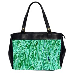 Green Background Pattern Office Handbags (2 Sides)  by Simbadda