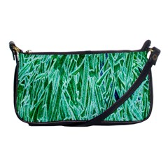 Green Background Pattern Shoulder Clutch Bags by Simbadda