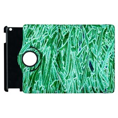 Green Background Pattern Apple Ipad 3/4 Flip 360 Case