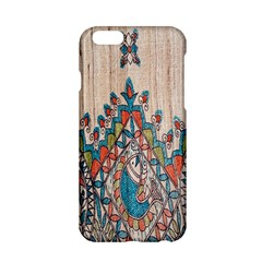 Blue Brown Cloth Design Apple Iphone 6/6s Hardshell Case by Simbadda