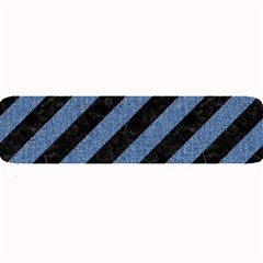 Stripes3 Black Marble & Blue Denim Large Bar Mat by trendistuff
