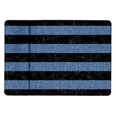 Stripes2 Black Marble & Blue Denim Samsung Galaxy Tab 10 1  P7500 Flip Case by trendistuff
