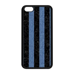 Stripes1 Black Marble & Blue Denim Apple Iphone 5c Seamless Case (black)