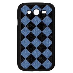Square2 Black Marble & Blue Denim Samsung Galaxy Grand Duos I9082 Case (black) by trendistuff
