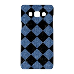 Square2 Black Marble & Blue Denim Samsung Galaxy A5 Hardshell Case  by trendistuff