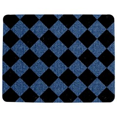 Square2 Black Marble & Blue Denim Jigsaw Puzzle Photo Stand (rectangular) by trendistuff