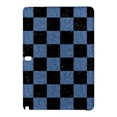 Square1 Black Marble & Blue Denim Samsung Galaxy Tab Pro 12 2 Hardshell Case by trendistuff