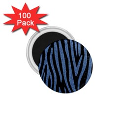 Skin4 Black Marble & Blue Denim (r) 1 75  Magnet (100 Pack)  by trendistuff