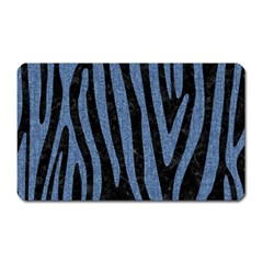 Skin4 Black Marble & Blue Denim (r) Magnet (rectangular) by trendistuff