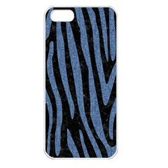 Skin4 Black Marble & Blue Denim (r) Apple Iphone 5 Seamless Case (white) by trendistuff