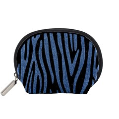 Skin4 Black Marble & Blue Denim (r) Accessory Pouch (small) by trendistuff