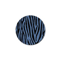 Skin4 Black Marble & Blue Denim Golf Ball Marker by trendistuff