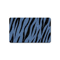 Skin3 Black Marble & Blue Denim (r) Magnet (name Card) by trendistuff