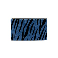 Skin3 Black Marble & Blue Denim (r) Cosmetic Bag (small) by trendistuff