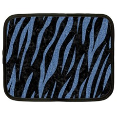 Skin3 Black Marble & Blue Denim Netbook Case (xxl) by trendistuff