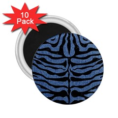 Skin2 Black Marble & Blue Denim (r) 2 25  Magnet (10 Pack) by trendistuff