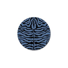 Skin2 Black Marble & Blue Denim (r) Golf Ball Marker (10 Pack) by trendistuff