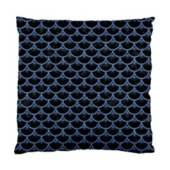Scales3 Black Marble & Blue Denim Standard Cushion Case (one Side) by trendistuff